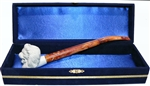 Standard Lion Churchwarden Meerschaum Pipes with Velvet Chest