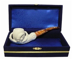 Standard Claw Meerschaum Pipes with Velvet Chest