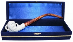 Standard Claw Churchwarden Meerschaum Pipes with Velvet Chest
