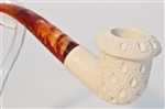 Standard Calabash Lattice Meerschaum Pipes