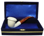 Standard Calabash Smooth Meerschaum Pipes with Velvet Chest