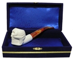 Standard Skull Meerschaum Pipes with Velvet Chest
