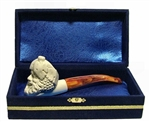 Standard Bacchus Meerschaum Pipes with Velvet Case