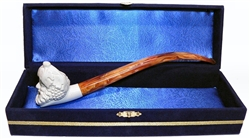 Standard Bacchus Churchwarden Meerschaum Pipes with Velvet Chest