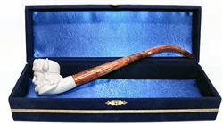 Standard Viking Churchwarden Meerschaum Pipes with Velvet Chest