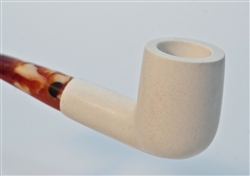Standard Billiard Smooth Bent Meerschaum Pipes