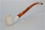 Standard Billiard Smooth Churchwarden Meerschaum Pipes