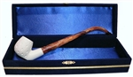 Standard Sitting Lattice Churchwarden Meerschaum Pipes with Velvet Chest