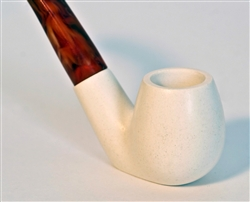 Standard Sitting Smooth Meerschaum Pipes