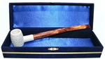 Standard Poker Lattice Churchwarden Meerschaum Pipes with Velvet Chest