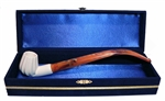 Standard Chimney Panel Churchwarden Meerschaum Pipes with Velvet Chest