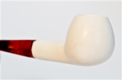 Standard Apple Smooth Straight Meerschaum Pipes