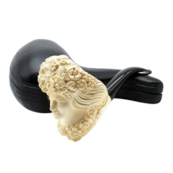 Deluxe Green Lady Block Meerschaum Pipe