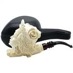 Special Emin Green Lady Block Meerschaum Pipe