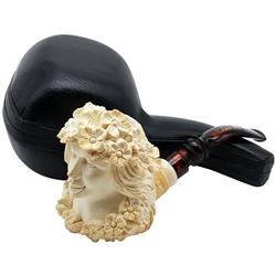 Special Green Lady Emin Block Meerschaum Pipe