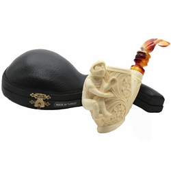 Emin Baseball Catcher Block Meerschaum Pipe