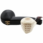 Emin Lattice Panel Block Meerschaum Pipe
