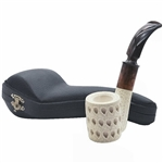 Lattice Flat Oom Paul Style Block Meerschaum Pipe