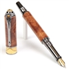 Art Deco Fountain Pen - Amboyna Burl