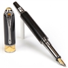 Art Deco Fountain Pen - Blackwood