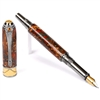 Art Deco Fountain Pen - Copper and Green Pine Cone