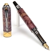 Art Deco Fountain Pen - Purple Maple Burl