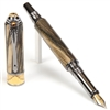 Art Deco Fountain Pen - Spalted Hackberry