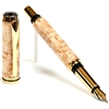 Baron Fountain Pen - Birds Eye Maple