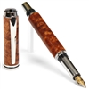 Baron Fountain Pen - Afzilia Snakeskin