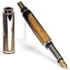 Baron Fountain Pen - Black & White Ebony