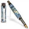 Baron Fountain Pen - Blue Maple Burl