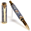 Baron Rollerball Pen - Blue Maple Burl