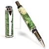 Baron Rollerball Pen - Green Maple Burl