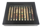 Piano Finish Display Case for 10 Pens