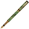 Classic Elite Fountain Pen - Green Maple Burl