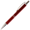 A201 Series Promotional Click Activated Ball Point Pen with a Red aluminum body - Lanier Pens