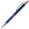 A202 Series Promotional Click Activated Ball Point Pen with a Blue aluminum body - Lanier Pens