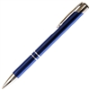 B202 Series Promotional Click Activated Ball Point Pen with a Blue aluminum body - Lanier Pens