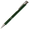 B203 Series Promotional Click Activated Ball Point Pen with a Green aluminum body - Lanier Pens