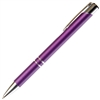 B209 Series Promotional Click Activated Ball Point Pen with a Purple aluminum body - Lanier Pens