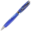 E422 Series Promotional Twist Activated Ball Point Pen with a Blue & White marbleized body - Lanier Pens
