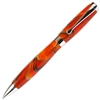 E425 Series Promotional Twist Activated Ball Point Pen with a Orange & Black marbleized body - Lanier Pens