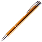 B205 Series Promotional Click Pencil with a Gold aluminum body - Lanier Pens