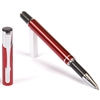 B201 Series Promotional Red Rollerball Point Pen with a aluminum body - Lanier Pens