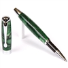 E423 Series Promotional Rollerball Pen with a Green & Black marbleized body - Lanier Pens
