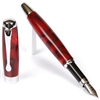 E421 Series Promotional Fountain Pen with a Red & Black marbleized body - LanierPens