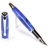 E422 Series Promotional Fountain Pen with a Blue & White marbleized body - Lanier Pens