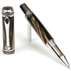 Majestic Rollerball Pen - Black & White Ebony