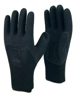 1 dozen (12 pairs) Black LATEX PALM COATED Nylon flexible glove
