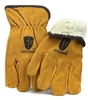1 dozen (12 pairs) Cowhide Yellow Full leather work glove with insulation